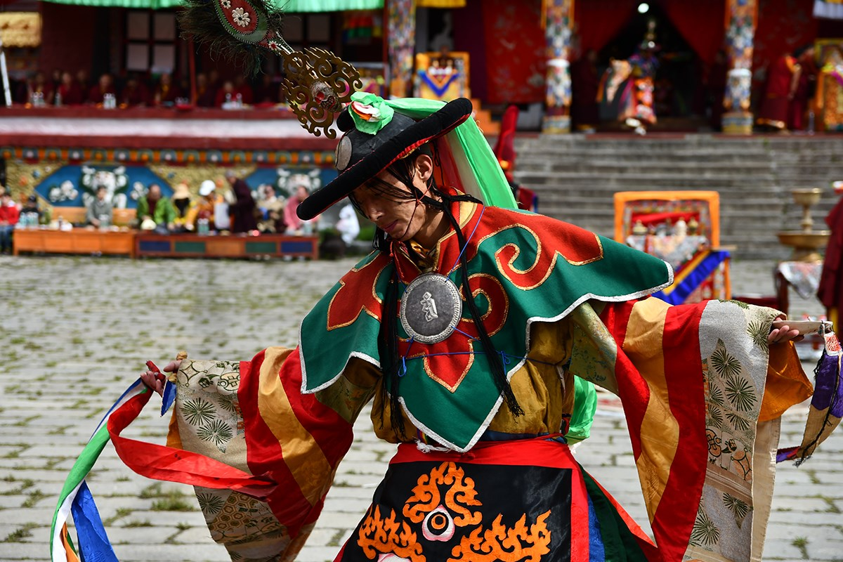 Mask Dance Festival at Tagong Monastery | Photo par Liu Bin